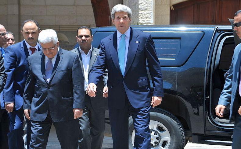Abbas y Kerry analizan las vías del proceso de paz palestino-israelí