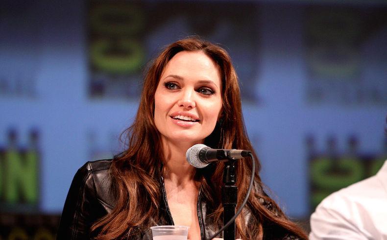 Angelina Jolie actriz y prescriptora publicitaria, que incluso fue recibida por el Papa Francisco