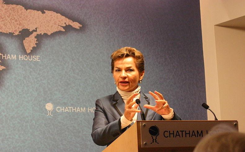 Christiana Figueres; debemos hacer todo lo posible para despoblar el planeta