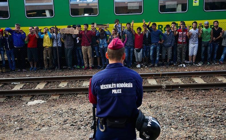Refugiados gaseados