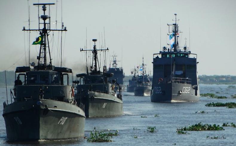 Fuerzas navales de 5 países sudamericanos participan de ACRUX VII