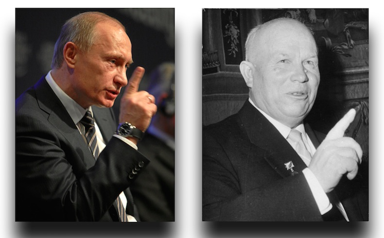 Putin y Jruschov