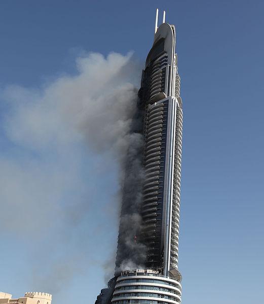 Address Dubai on fire