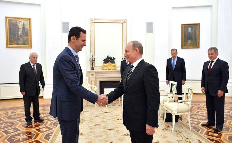 Presidente ruso Putin con el presidente sirio Al Assad (Fuente: Wiki Media)