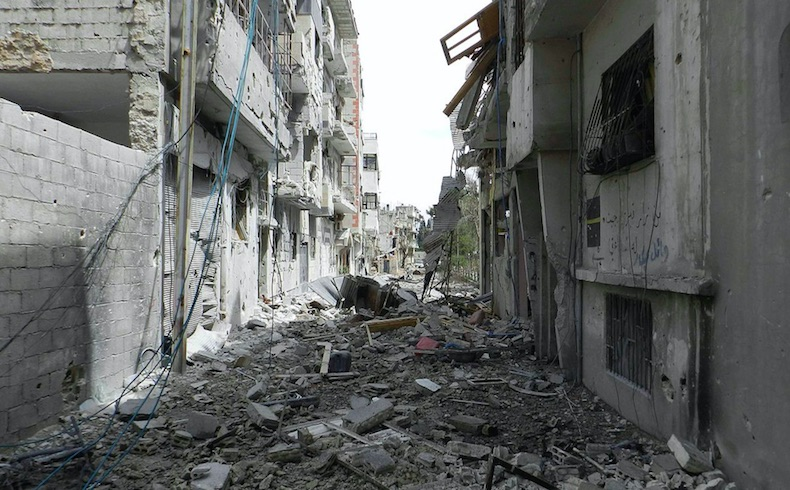 Siria: Devastación total