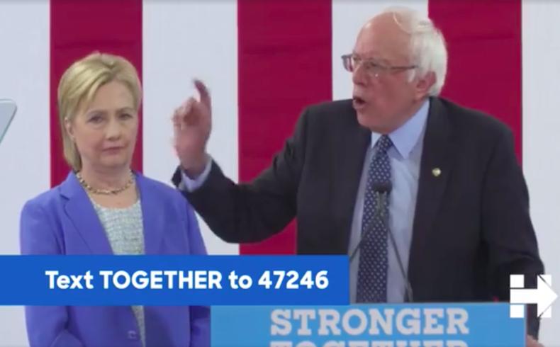 Socialista Sanders da respaldo a Clinton para presidenciales de EEUU
