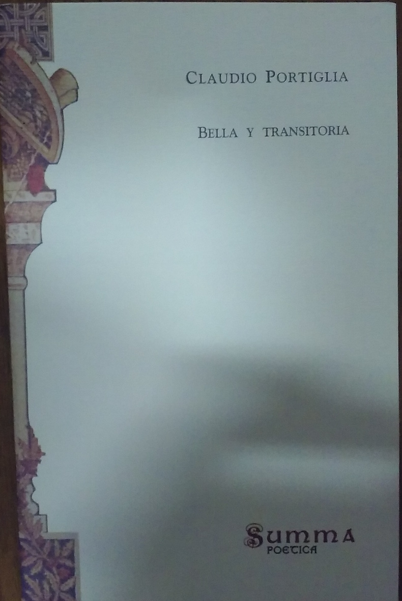 Libro Portiglia 7 Bella y Transitoria