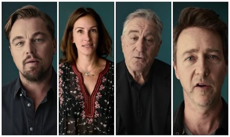 Para las próximas elecciones en Estados Unidos DiCaprio, Roberts y De Niro buscan el voto ´millennial´