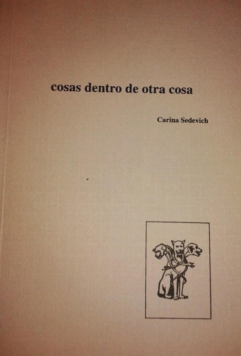 Libro Sedevich 3 – Cosas dentro de otra cosa, 2000