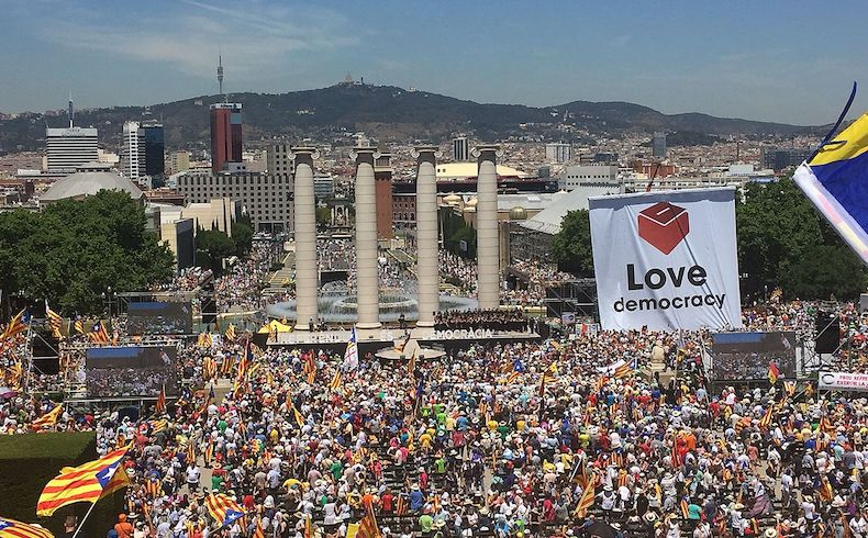 Campaña independentista en Cataluña