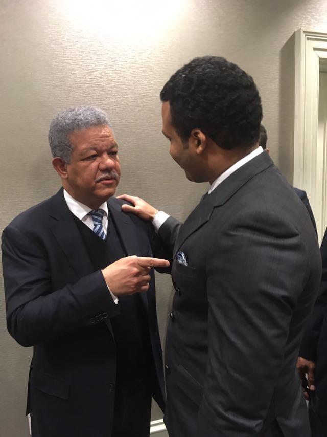 Con Presidente dominicano Leonel Fernández