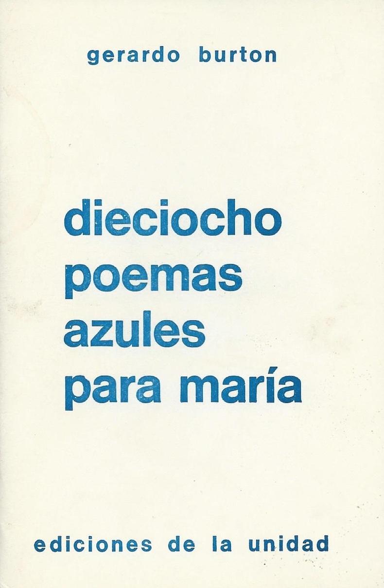 Libro Burton 23 - Dieciocho poemas azules para María