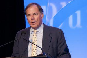 Emcee David Allman has been a Foundation board member since 1993.