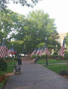 The Marietta Square was all decked out this week in preparation for Labor Day weekend