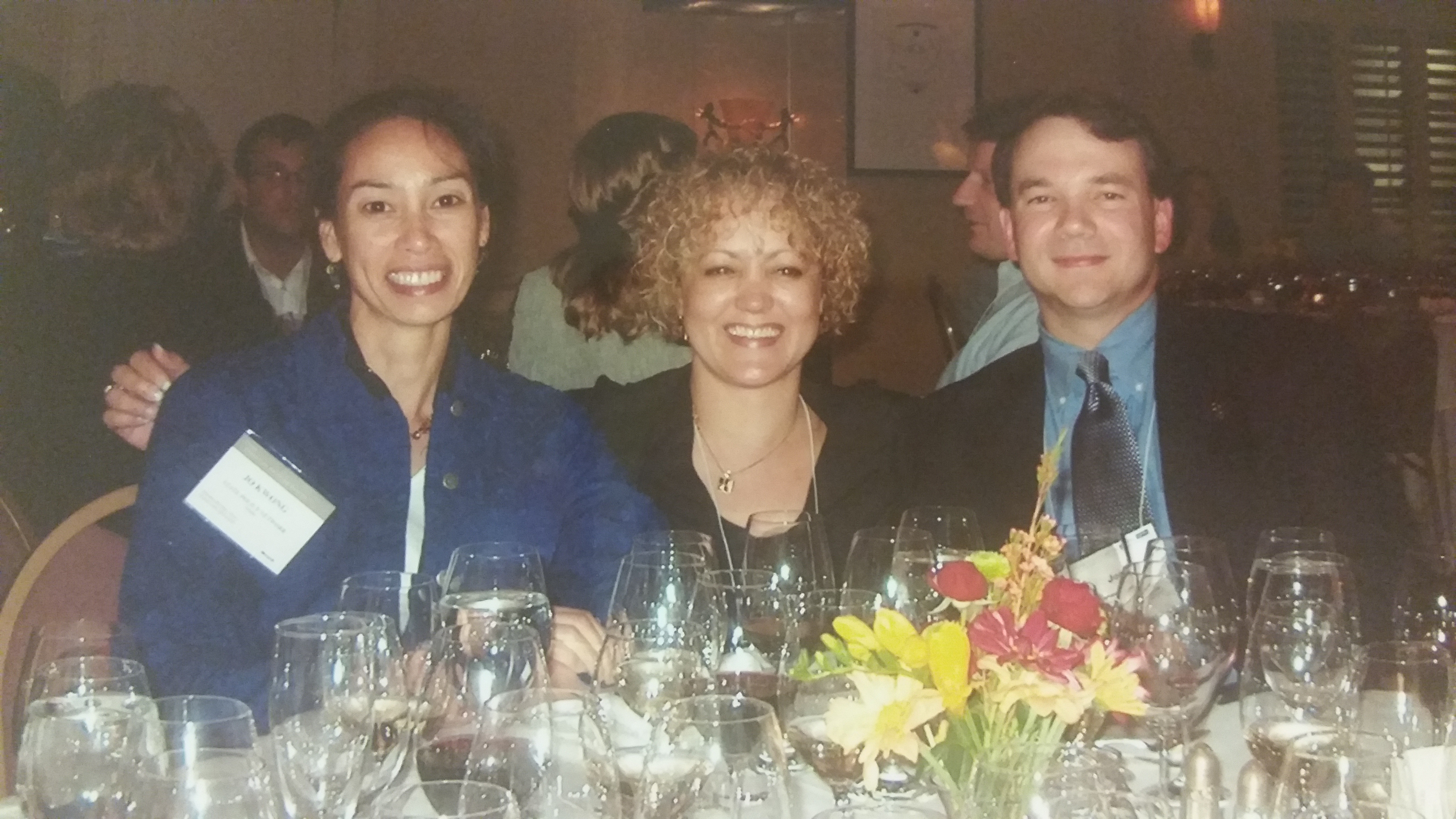 Think tanks, the early days: I met Jo Kwong of the Atlas Foundation (left) and Joe Lehman of the Mackinac Center at my first SPN conference in 2003.
