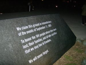 The memorial at the Pentagon in Washington, D.C., for the victims of the September 11, 2001 terrorist attack.