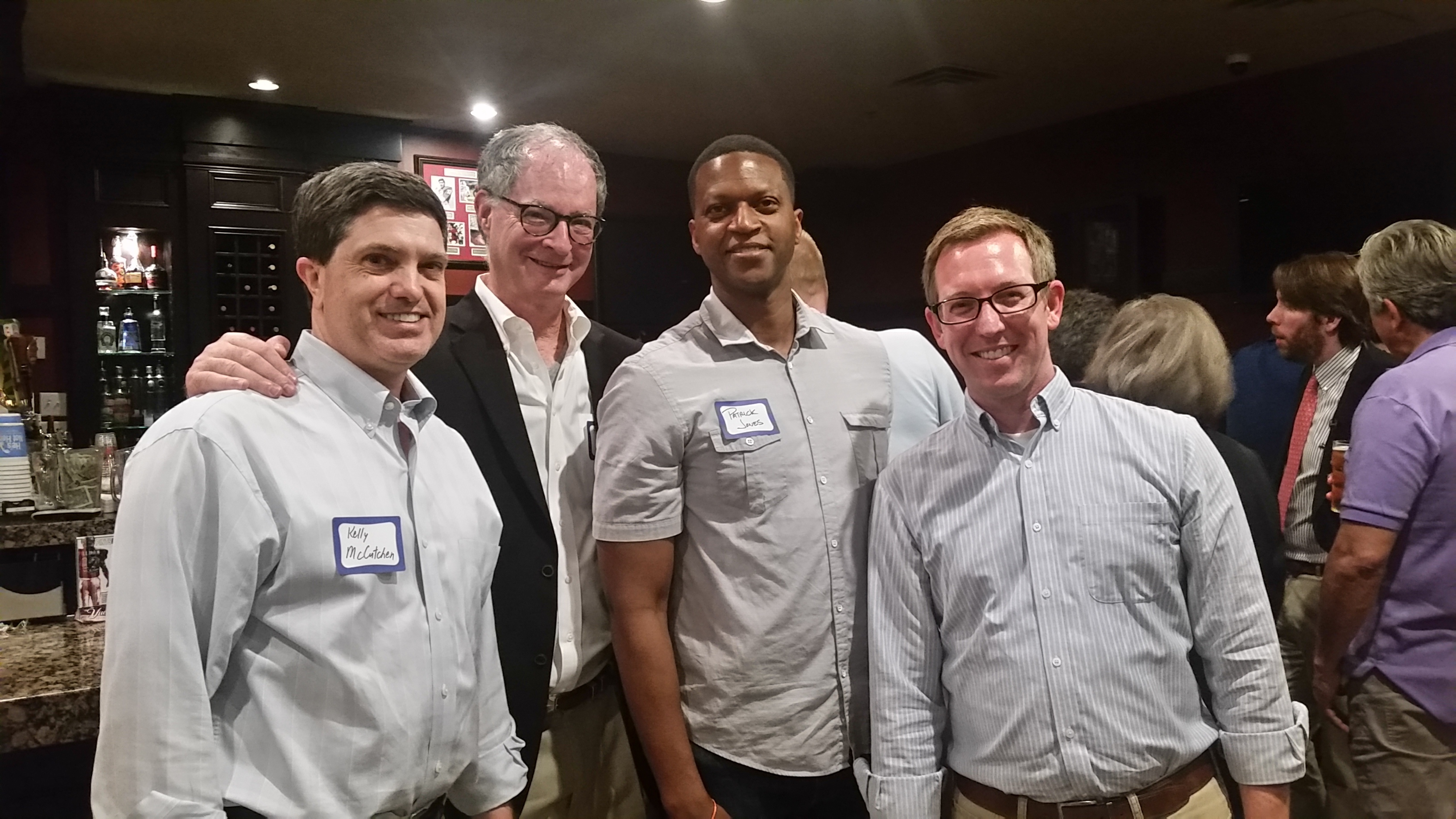 The Georgia Public Policy Foundation was out in force at America's Future Foundation's Book Forum Tuesday night in Atlanta. With From left, Kelly McCutchen, XXXX, Patrick Jones and Eric Wearne