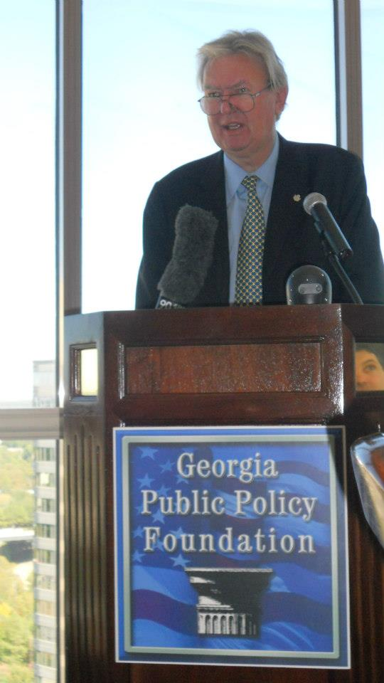 John Blundell, who was policy advisor to British Prime Minister Margaret Thatcher, spoke to the Georgia Public Policy Foundation in October 2012. He died on July 22.
