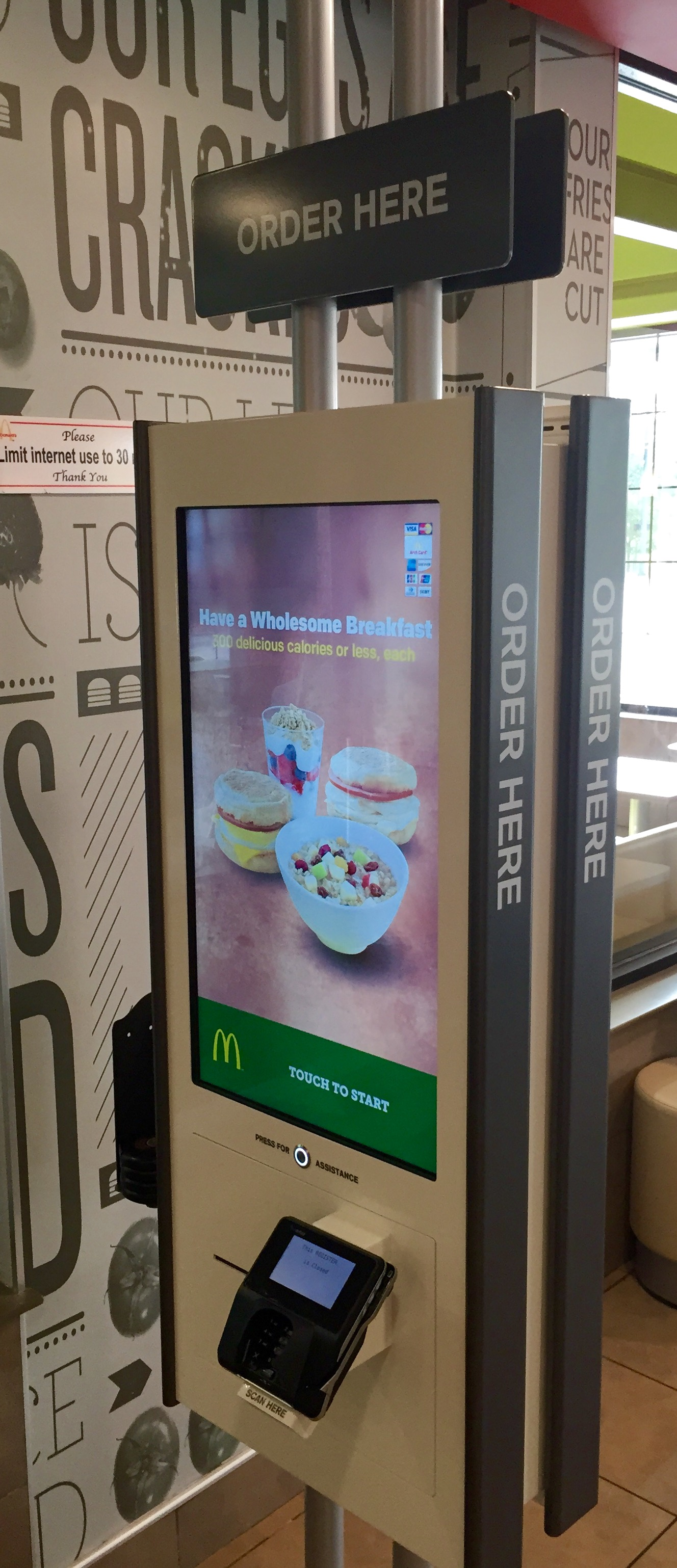 The face of your minimum-wage worker: A Friday Facts reader sent the Foundation this photograph, taken at a McDonald's near the Mall of Georgia,  highlighting the automation taking place in fast-food restaurants as franchises anticipate a hike in the minimum wage.