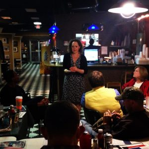 Benita Dodd, vice president of the Georgia Public Policy Foundation, spoke to the Newton Conservative Liberty Alliance in Covington this week about up the Foundation's 2015 policy agenda.