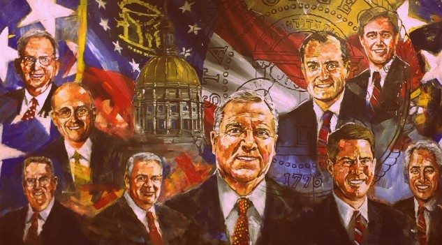 This painting by Steve Penley hangs in the Georgia Secretary of State's office at the Georgia Capitol