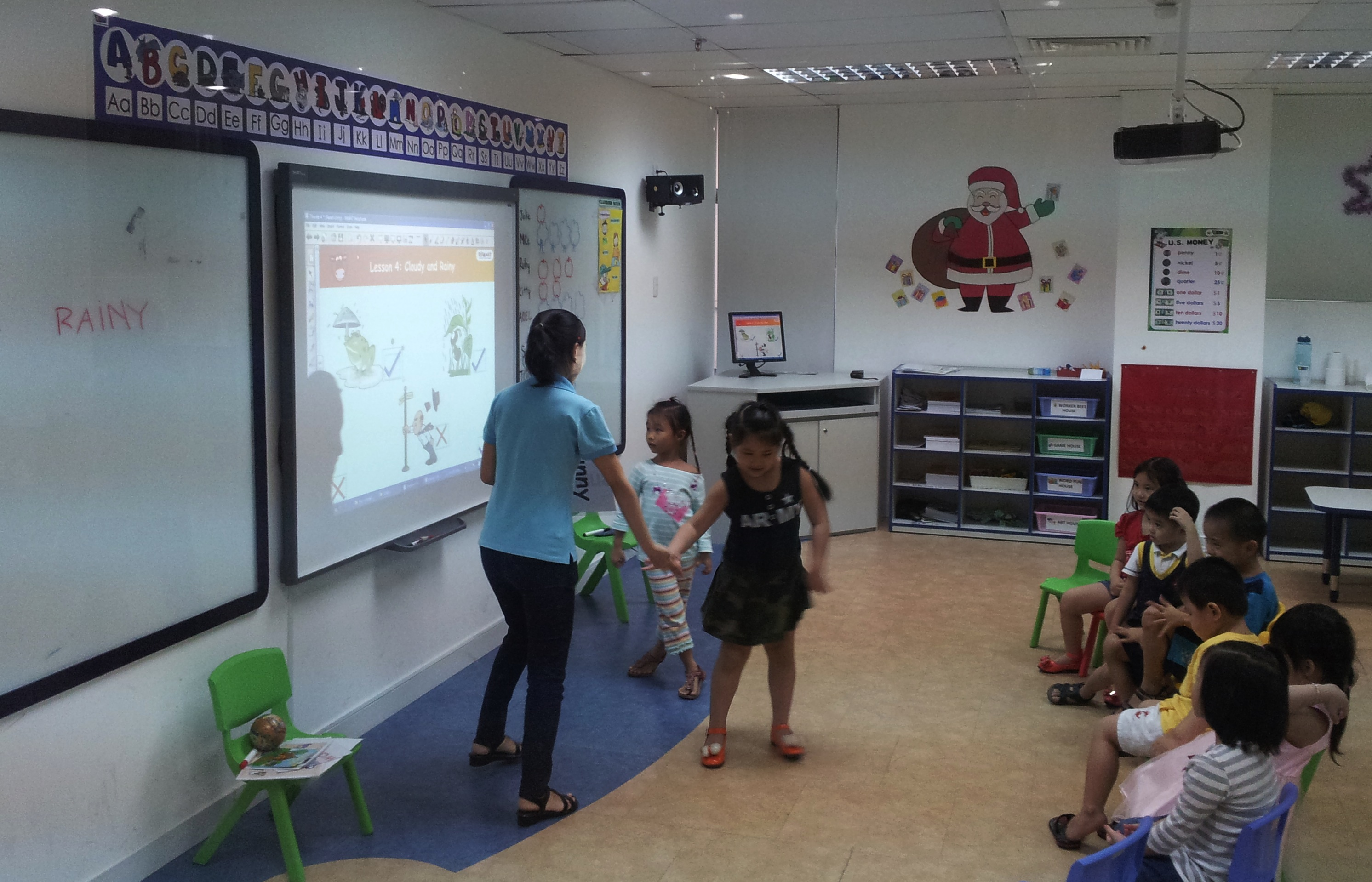 A classroom at RISE, an English language learning program in Vietnam.