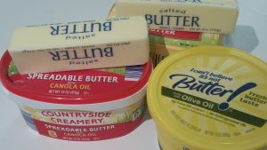 Today, butter and oleomargarine share space in refrigerators everywhere.
