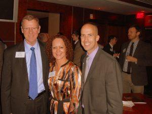 Cato Institute President John Allison (left) with Benita Dodd and Michael Cannon of Cato