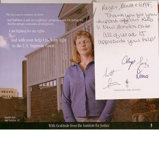 Ten years ago this week, the U.S. Supreme Court ruled against Susette Kelo as the city of New Haven, Conn., seized her home and land for private development.