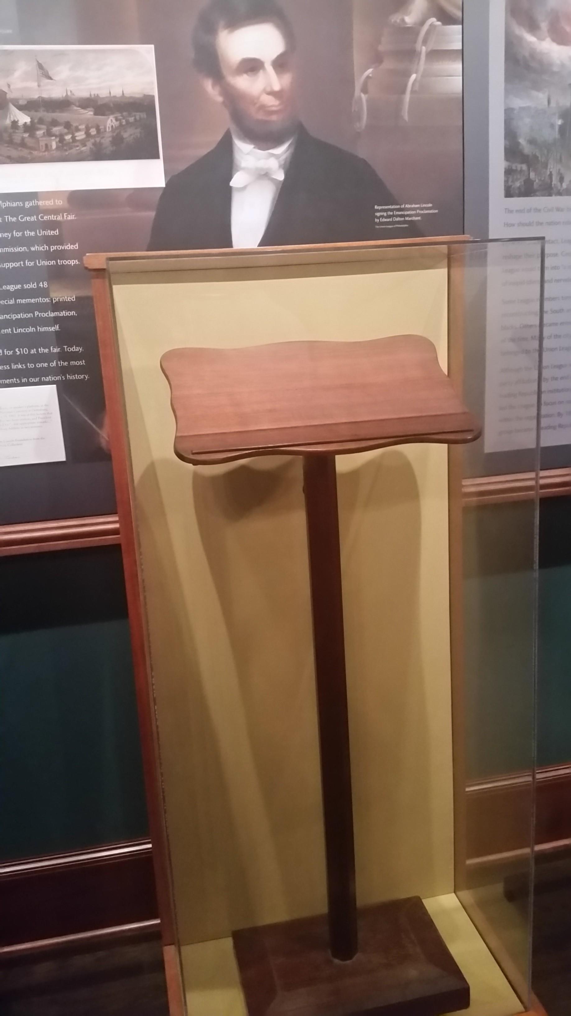Gettysburg lectern