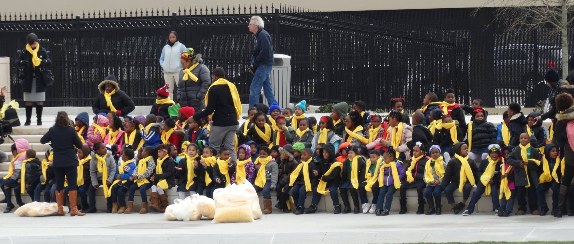 Hundreds of schoolchildren braved chilly temperatures Wednesday to attend the National School Choice Week rally at the Georgia State Capitol in Atlanta