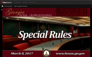 Georgia's House of Representatives streams committee hearings live online.