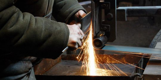 Image of welder at work