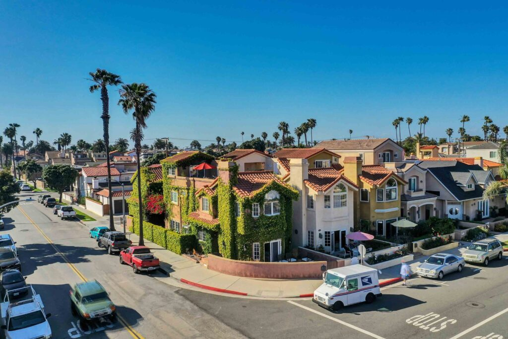 Aerial View Huntington Beach Vacation Rental