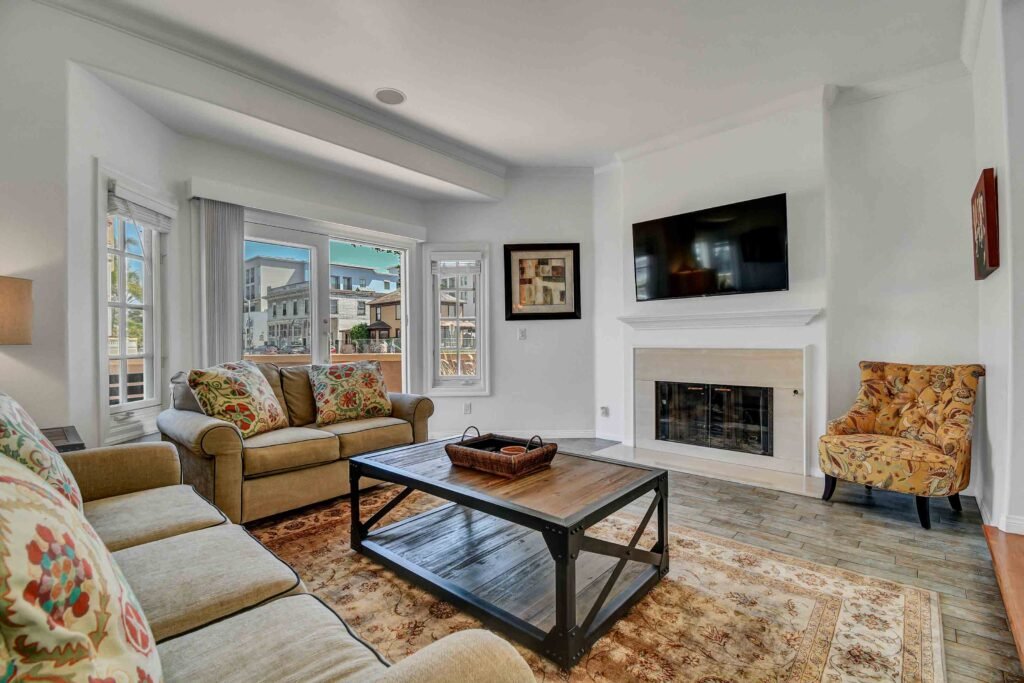 Living Room Huntington Beach Vacation Rental