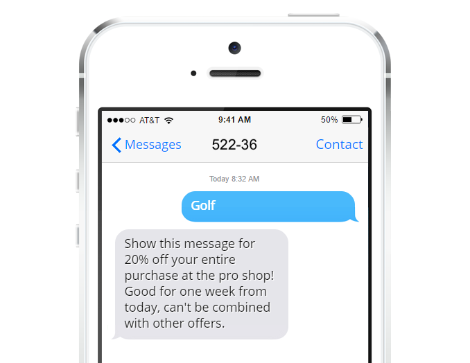 Text ALN Text Message Marketing for Golf Courses