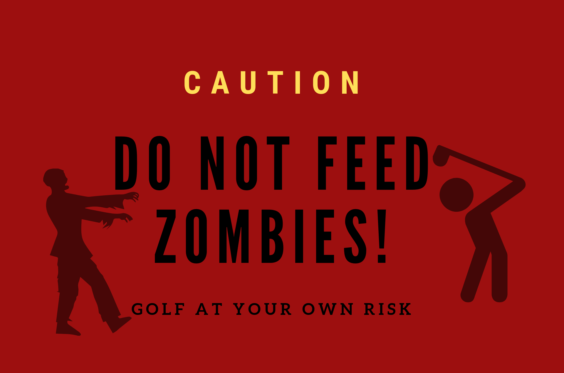 Zombie Golf Tournament Fundraiser