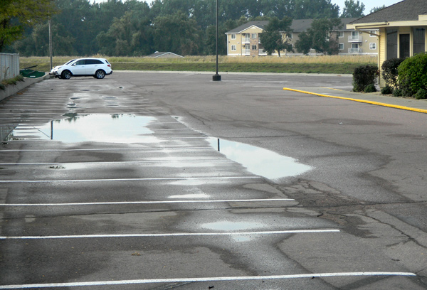 Olive Garden parking lot before picture.