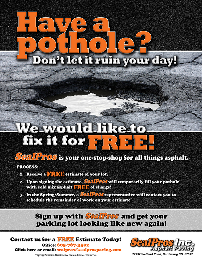Fix It Free Program from SealPros Paving.