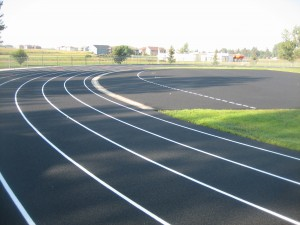 New school asphalt track.