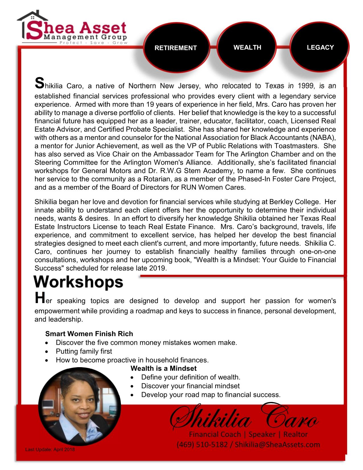 Shikilia Caro | The Mindset Reset Experience Hampton, VA Event