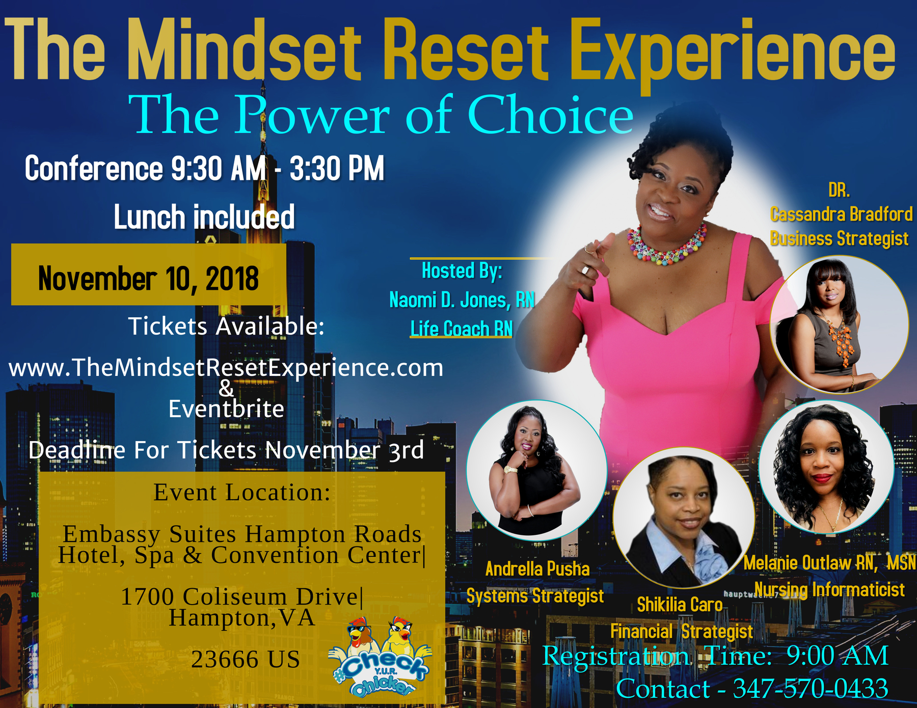The Mindset Reset Experience | Naomi Jones | Registered Nurse | Mindset | Event | Speakers | Hampton, VA | Life Coach |