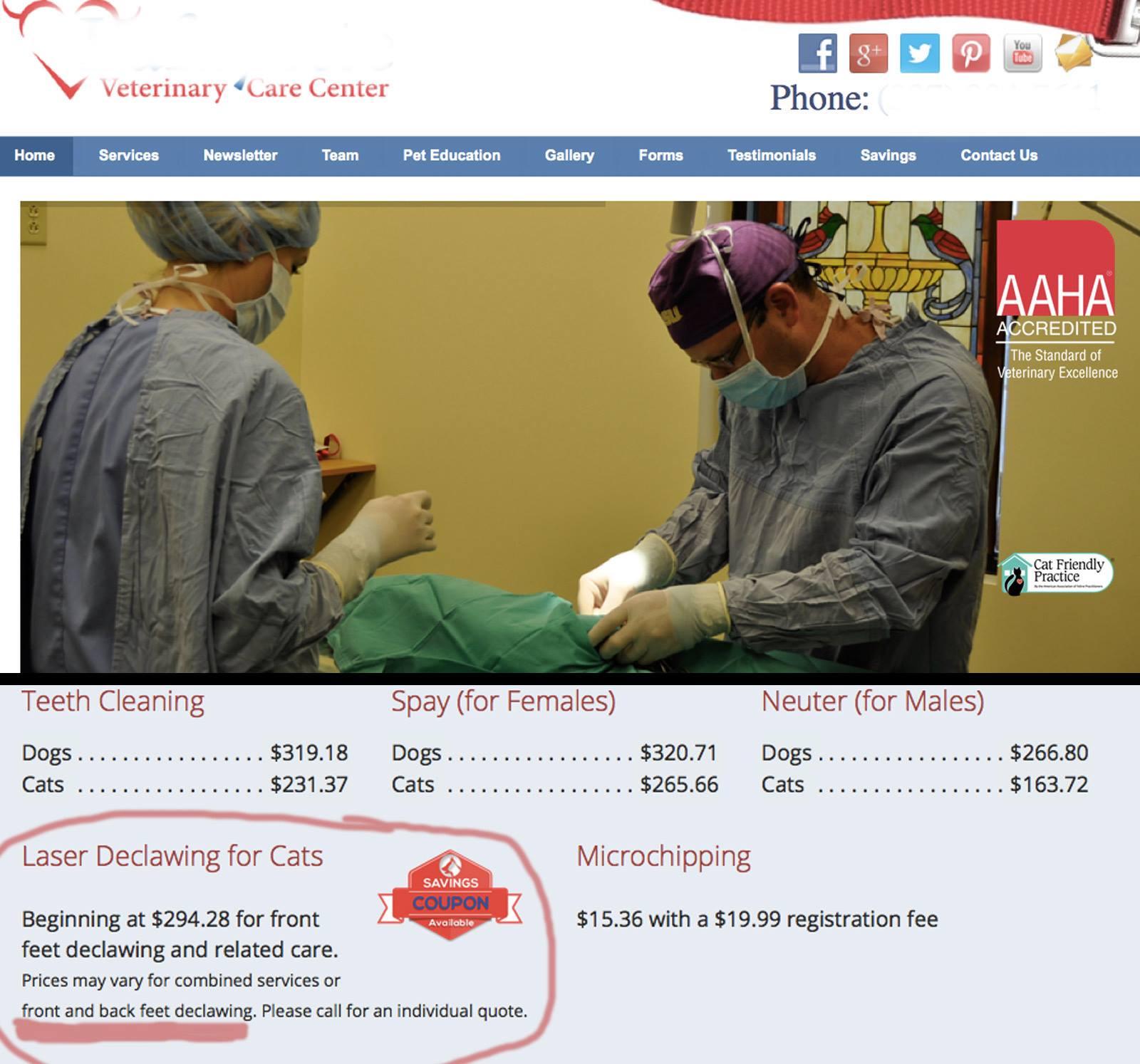 AAHA vet care center