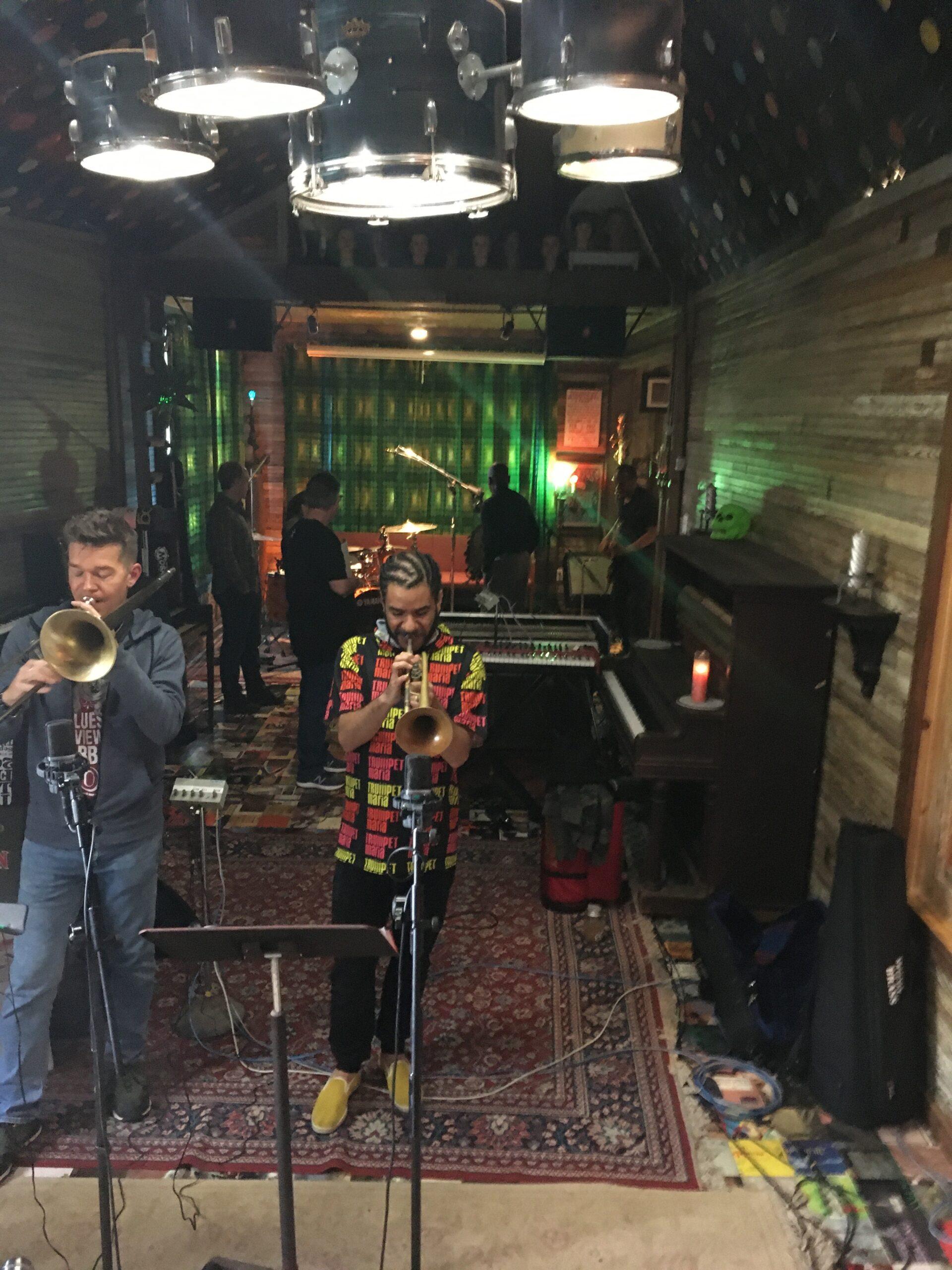 Maceo Parker recording - Horns