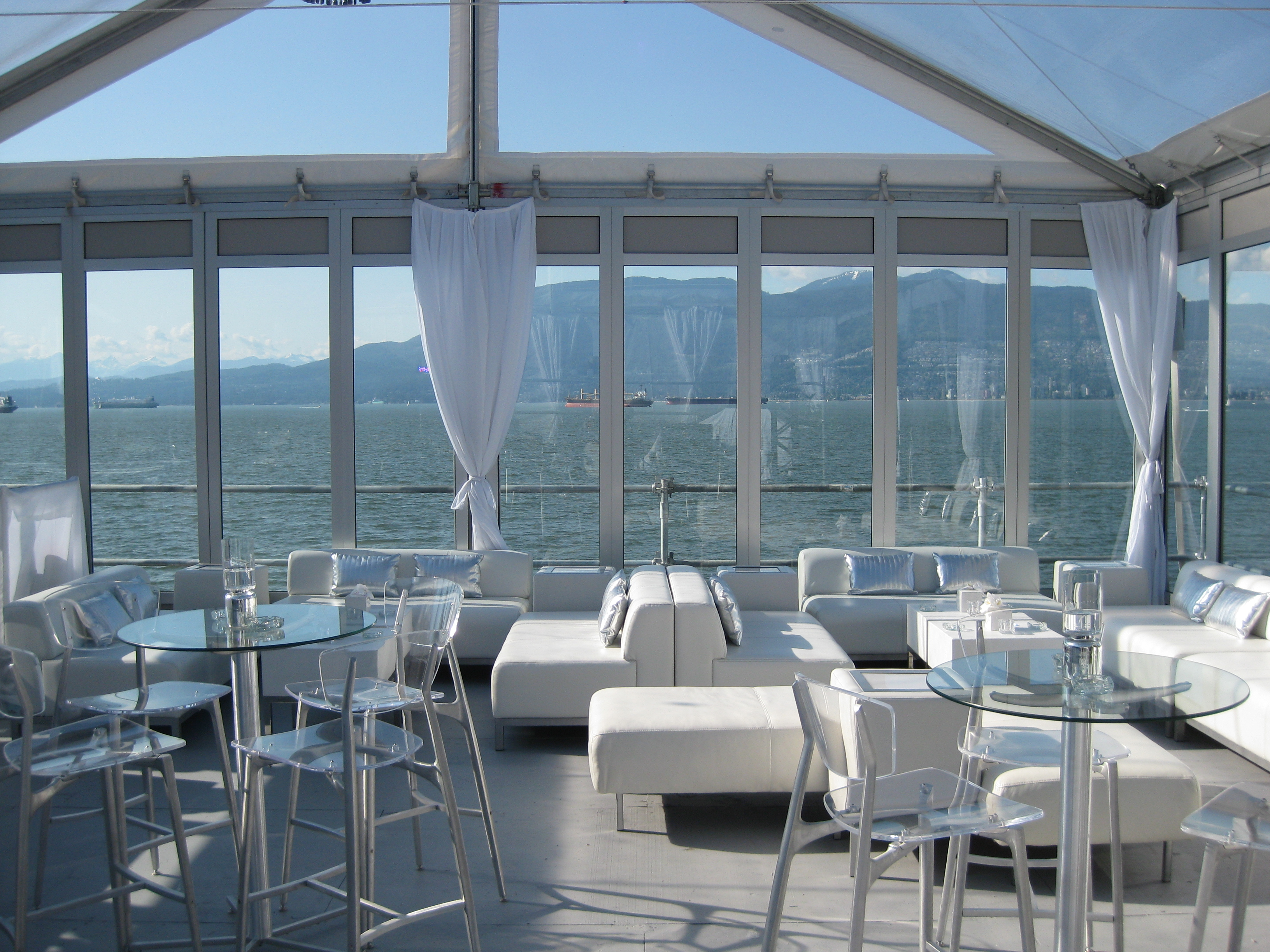 Olympic Tent glass walls