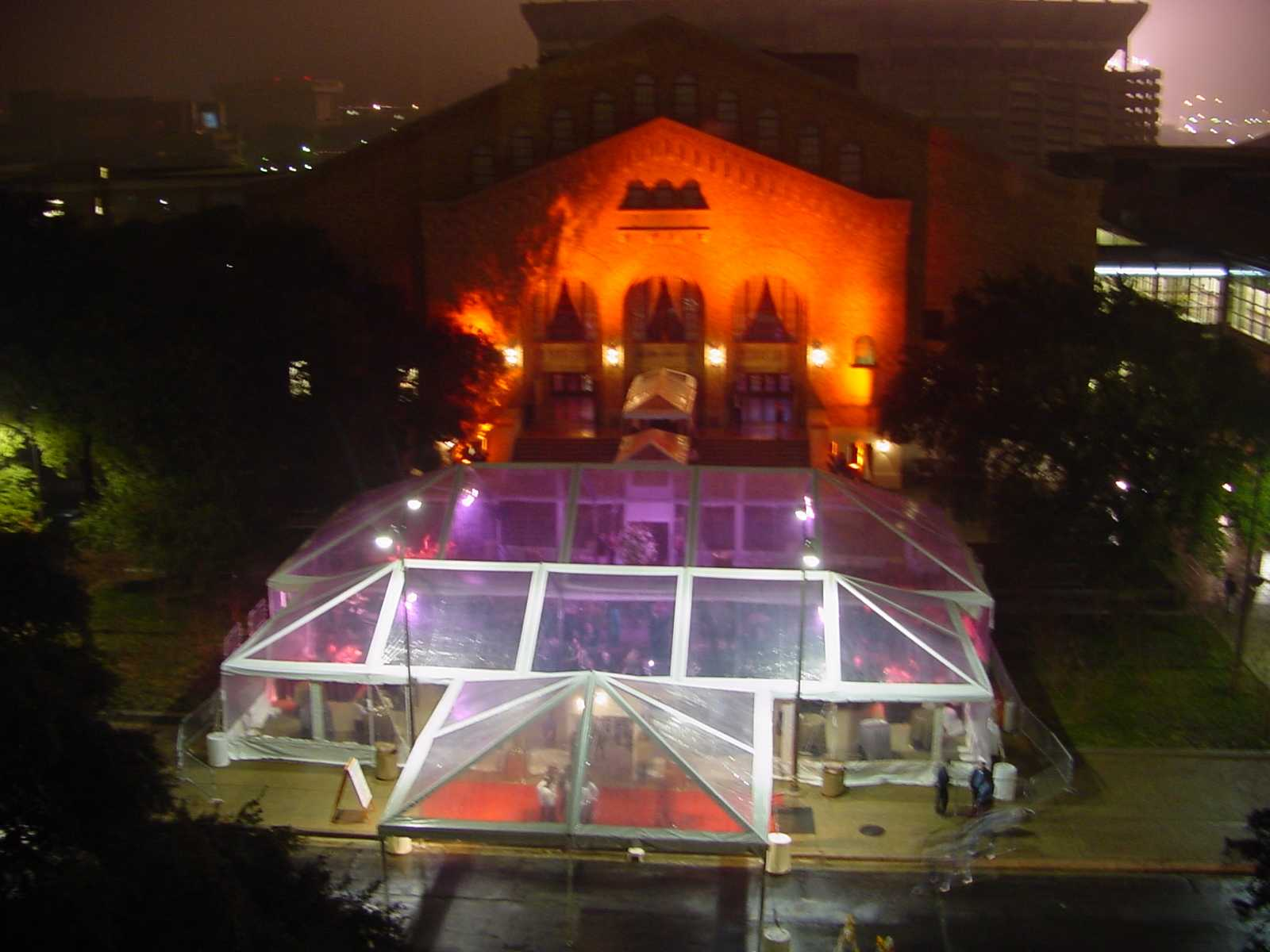 #13 Marquee night top view