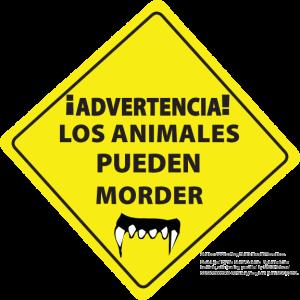 Animals May Bite (Spanish)