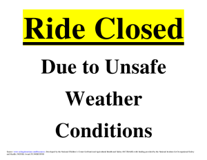 Closed for Bad Weather Sign