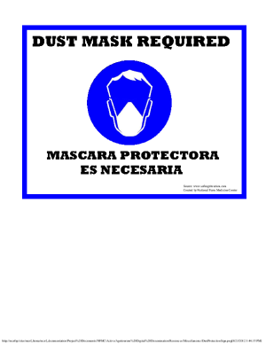Dust Mask Required Sign