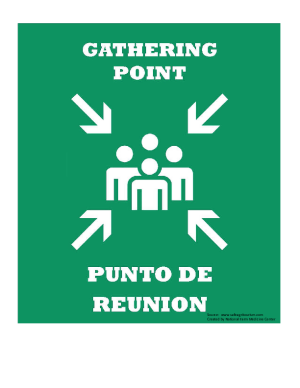 Gathering Point Sign